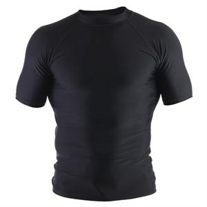 Clinch Gear Basic Black Rashguard - Short Sleeve